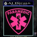 Paramedic Triangular Badge Decal Sticker Pink Hot Vinyl 120x120