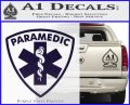Paramedic Triangular Badge Decal Sticker PurpleEmblem Logo 120x97