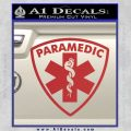 Paramedic Triangular Badge Decal Sticker Red 120x120