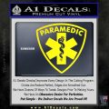 Paramedic Triangular Badge Decal Sticker Yellow Laptop 120x120