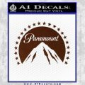 Paramount Movie Logo D1 Decal Sticker BROWN Vinyl 120x120