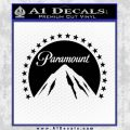 Paramount Movie Logo D1 Decal Sticker Black Vinyl 120x120