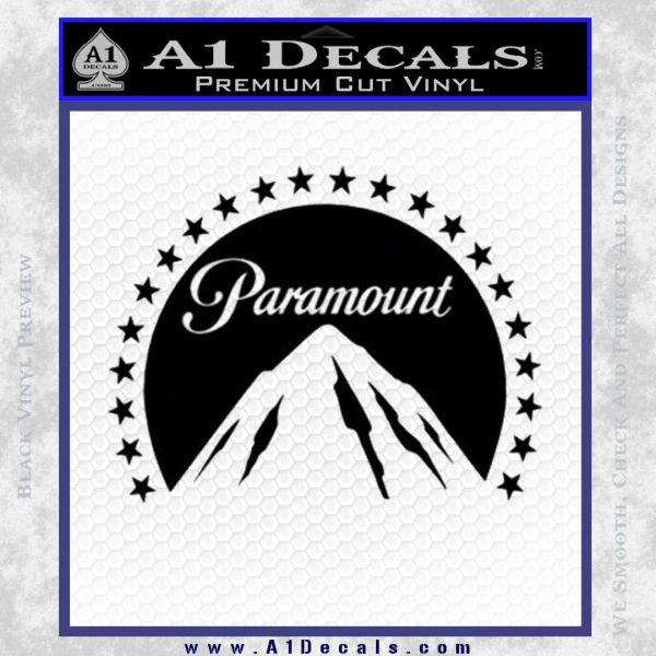 Paramount Movie Logo D1 Decal Sticker Black Vinyl