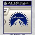 Paramount Movie Logo D1 Decal Sticker Blue Vinyl 120x120