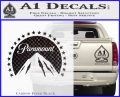 Paramount Movie Logo D1 Decal Sticker Carbon FIber Black Vinyl 120x97