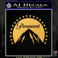 Paramount Movie Logo D1 Decal Sticker Gold Vinyl 120x120