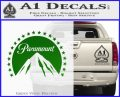 Paramount Movie Logo D1 Decal Sticker Green Vinyl Logo 120x97