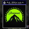 Paramount Movie Logo D1 Decal Sticker Lime Green Vinyl 120x120