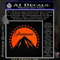Paramount Movie Logo D1 Decal Sticker Orange Emblem 120x120