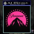 Paramount Movie Logo D1 Decal Sticker Pink Hot Vinyl 120x120
