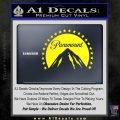 Paramount Movie Logo D1 Decal Sticker Yellow Laptop 120x120