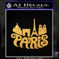 Paris Retro D1 Decal Sticker Gold Vinyl 120x120