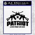Patriot Live Free or Die Rifles Crossed Decal Sticker Black Vinyl 120x120