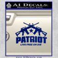 Patriot Live Free or Die Rifles Crossed Decal Sticker Blue Vinyl 120x120