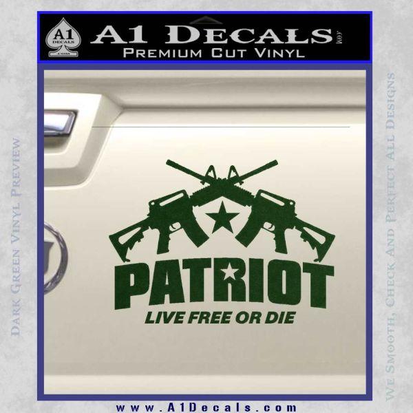 Patriot Live Free Or Die Rifles Crossed Decal Sticker 187 A1