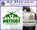 Patriot Live Free or Die Rifles Crossed Decal Sticker Green Vinyl Logo 120x97