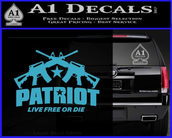 Patriot Live Free Or Die Rifles Crossed Decal Sticker 187 A1