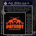 Patriot Live Free or Die Rifles Crossed Decal Sticker Orange Emblem 120x120