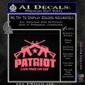 Patriot Live Free or Die Rifles Crossed Decal Sticker Pink Emblem 120x120