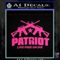 Patriot Live Free or Die Rifles Crossed Decal Sticker Pink Hot Vinyl 120x120