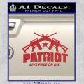 Patriot Live Free or Die Rifles Crossed Decal Sticker Red 120x120