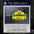 Patriot Live Free or Die Rifles Crossed Decal Sticker Yellow Laptop 120x120