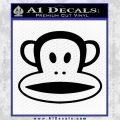 Paul Frank Julius The Monkey Decal Sticker Black Vinyl 120x120
