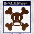 Paul Frank Skurvy Skull Decal Sticker BROWN Vinyl 120x120