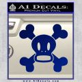 Paul Frank Skurvy Skull Decal Sticker Blue Vinyl 120x120
