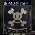 Paul Frank Skurvy Skull Decal Sticker Carbon FIber Chrome Vinyl 120x120