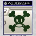 Paul Frank Skurvy Skull Decal Sticker Dark Green Vinyl 120x120