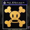 Paul Frank Skurvy Skull Decal Sticker Gold Vinyl 120x120