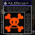 Paul Frank Skurvy Skull Decal Sticker Orange Emblem 120x120