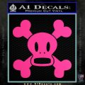 Paul Frank Skurvy Skull Decal Sticker Pink Hot Vinyl 120x120