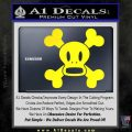 Paul Frank Skurvy Skull Decal Sticker Yellow Laptop 120x120