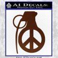 Peace Grenade Decal Sticker BROWN Vinyl 120x120
