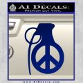 Peace Grenade Decal Sticker Blue Vinyl 120x120