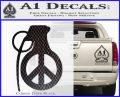 Peace Grenade Decal Sticker Carbon FIber Black Vinyl 120x97