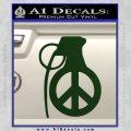 Peace Grenade Decal Sticker Dark Green Vinyl 120x120
