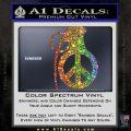Peace Grenade Decal Sticker Glitter Sparkle 120x120