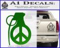 Peace Grenade Decal Sticker Green Vinyl Logo 120x97