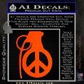 Peace Grenade Decal Sticker Orange Emblem 120x120