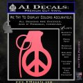Peace Grenade Decal Sticker Pink Emblem 120x120