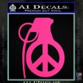 Peace Grenade Decal Sticker Pink Hot Vinyl 120x120