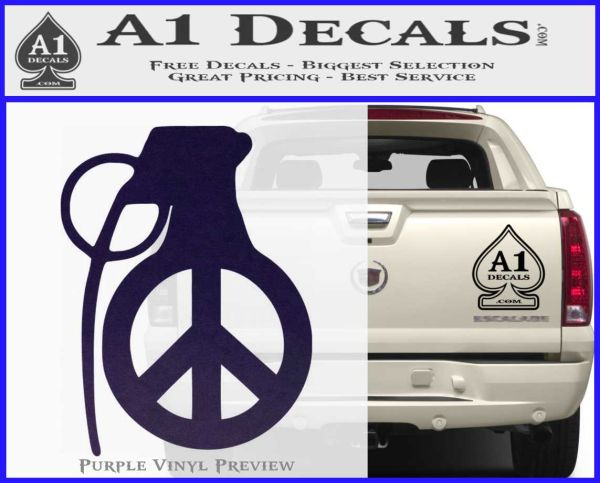 peace grenade decal sticker 187 a1 decals