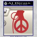 Peace Grenade Decal Sticker Red 120x120