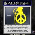 Peace Grenade Decal Sticker Yellow Laptop 120x120