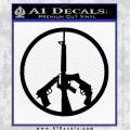Peace Sign Gun Weapons Rifle Decal Sticker Black Vinyl 120x120