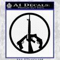 Peace Sign Gun Weapons Rifle Decal Sticker Black Vinyl 120x120