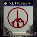 Peace Sign Gun Weapons Rifle Decal Sticker DRD Vinyl 120x120